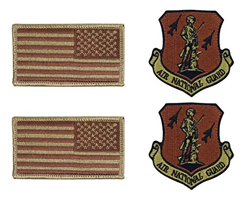 - USAF Air National Guard OCP Spice Brown Patch and Reverse Flag Bundle (2 Pack Bundle)