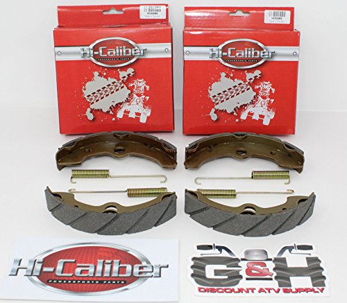 2 Sets WATER GROOVED FRONT BRAKE SHOES + SPRINGS for the 1993-1998 Yamaha YFM 400 FW Kodiak 4WD