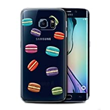 STUFF4 Phone Case / Cover for Samsung Galaxy S6 Edge / Macaron Design / Pieces of Food Collection