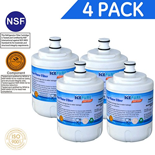 Icepure RWF1600A Compatible with Maytag UKF7003,WHIRLPOOL EDR7D1,Filter 7 Water filter,4PACK - Maytag Ukf7003 Refrigerator
