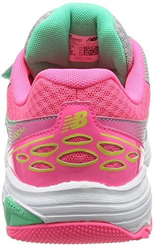 New Balance 680v3, Zapatillas Unisex Niños Multicolor (Grey/pink)