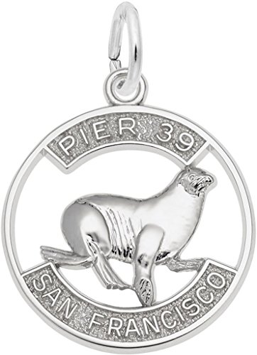 Lion Charm Sea (Rembrandt Cutout Pier 39 Sea Lion Charm - Metal - Sterling Silver)
