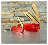 Beard and Mustache Folding Comb set, Swiss Army Knife Style