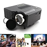 LightInTheBox QVGA 400 LM Mini HD Home LCD Projector with HDMI Input Home Video Movie Theater Mini Projectors with Remote Control , Color=Black
