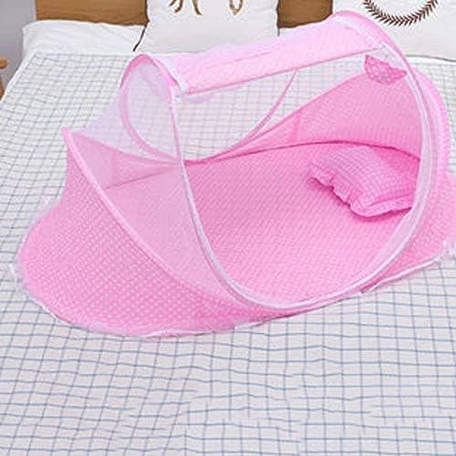 DXMRWJ 折りたたみベビー寝具、ベビーベッド蚊帳、ポータブルベビー蚊帳ベッド、夏保護テント寝具 (Color : A)