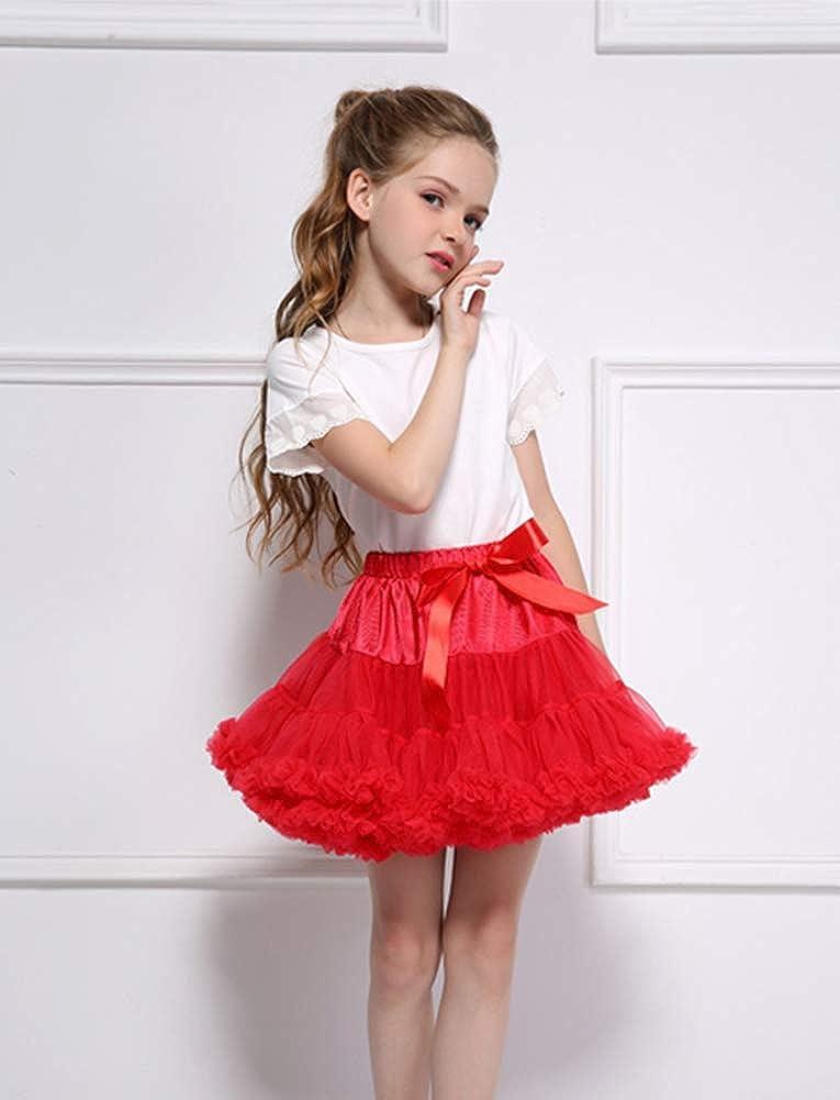 Adorel Girls Tutu Skirt Ruffly Full Party Danse Bowknot