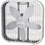 Holmes 20-Inch Box Fan, White (2-Pack)