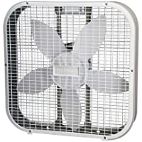 Holmes Weather Shield 20 Inch Metal Box Fan, White - A High Efficient Modern Oscillating Motor and Blade Combination - 3 Fan Speed Control - Designed for All Rooms - Best Buy for Your Investment