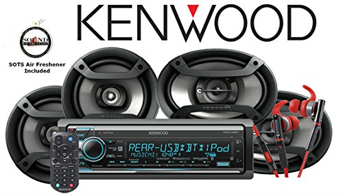 Kenwood KDC-X501 eXcelonCD Receiver with Red 800 Series Kenwood Headphones KH-SR800R andOne Pair of TS-165P 6.5