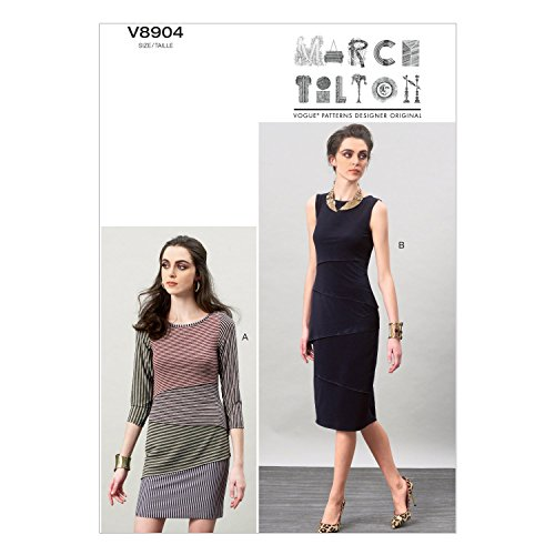 (Vogue Patterns V8904 Misses' Dress Sewing Template, Size A5)