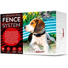 In Ground Electric Fence for Dogs - Simple Do-It-Yourself Installation Above Ground or Below Ground – Waterproof Wire, Collars and Free Training Guide Included