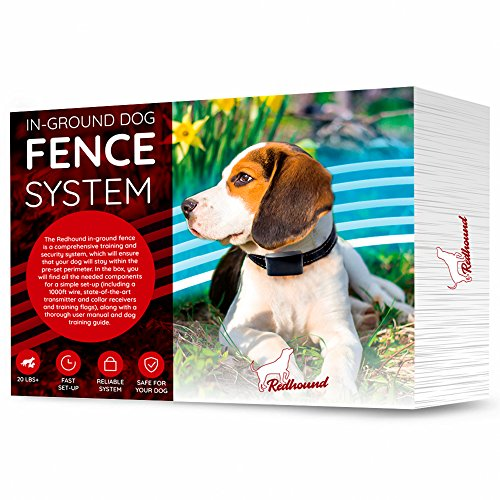 In Ground Electric Fence for Dogs - Simple Do-It-Yourself Installation Above Ground or Below Ground – Waterproof Wire, Collars and Free Training Guide (Ground Electric Dog Fence)