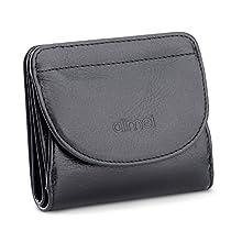 Alimei 二つ折り財布レディース 本革財布 ボックス型 メンズ 小銭...