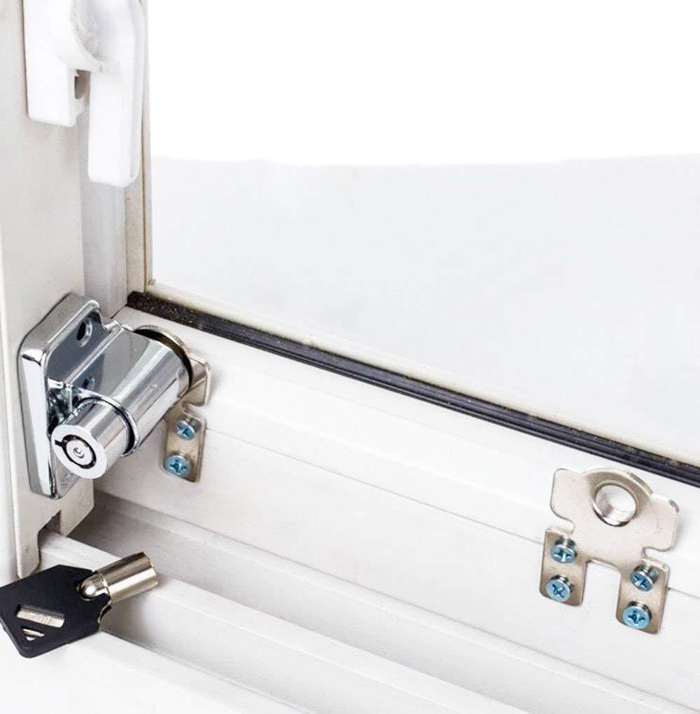 1 Unids/lote Ventana Corredera Cerradura de Seguridad para Niños Cerradura Antirrobo Cerradura de Puerta Push/Pull Cerraduras de Límite dingchimo