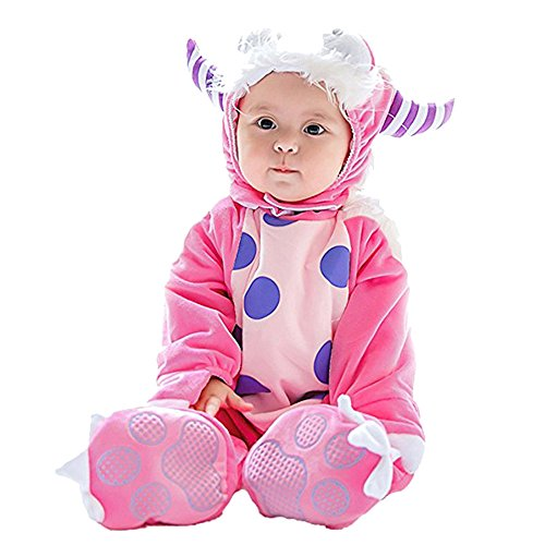 Outtop(TM) Baby Girls Halloween Jumpsuit Sets Newborn Animal Costume Hooded Bodysuit Footies Romper Onesie Outfit (18M (12~18months), Pink)