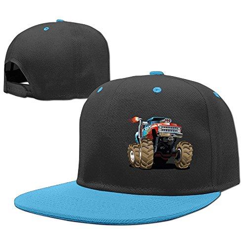 Poii Qon Monster Truck Fired Boys and Girls Kids Baseball Cap Hip Hop ()