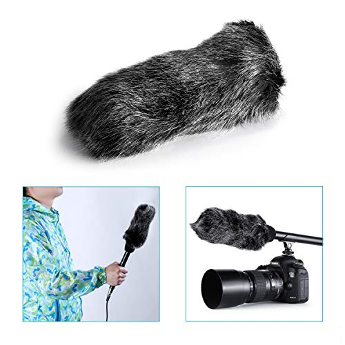(Neewer® NW-MIC-121 Outdoor Microphone Furry Windscreen Muff for MIC-01 MIC108 MIC-121 Stereo Microphone, TAKSTAR SGC-598, NW-598, SHENGGU SG209 SG108 & Similar Mics)