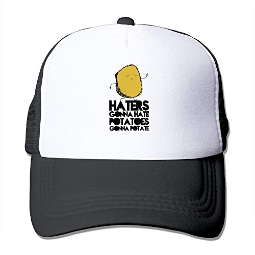 Haters Gonna Hate, Potatoes Gonna Potate Adjustable Printing Snapback Mesh Hat Unisex Adult Baseball Mesh Cap