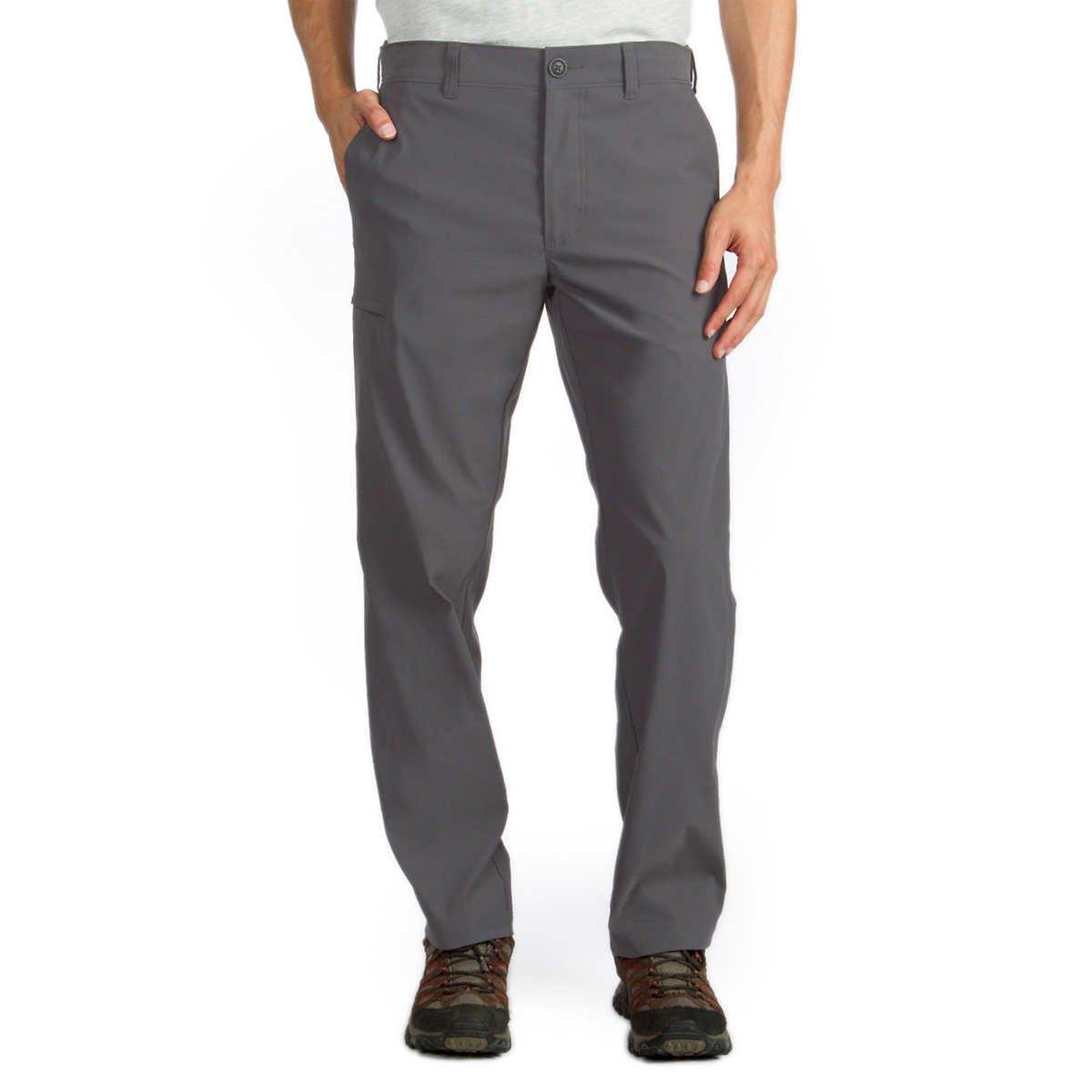 UNIONBAY UB Tech Classic Fit Expandable Comfort Waist Chino Pant for Men (36W x 32L, Grey)