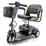 Pride Mobility - Go-Go Elite Traveller - Lightweight Travel Scooter - 3-Wheel - Blue