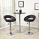 Kitchen Bar Stools Ikea Belleze Bar Stool Pub Modern Adjustable Swivel Hydraulic , Set of 2 Dark Brown