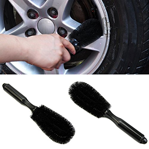 Bright Polish Alloy Wheel (1 Piece Wheel Cleaner Brush- Plastic Washing Wheel Vehicle Cleaning Tool Cleaning Wheel Tire Rim Car Truck Motorcycle Bicycle Brush Tool)