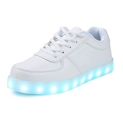 SAGUARO LED Light Flashing Luminous Shoes Lace Up Sportswear Sneakers Athletic