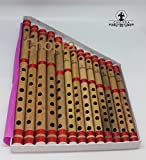Set of 13 Bamboo Flute Wooden Flute with Different Scales in a Box Pack Scales Bansuri Banshi for beginners, learners and practitioners a nice gifting idea for all music lovers