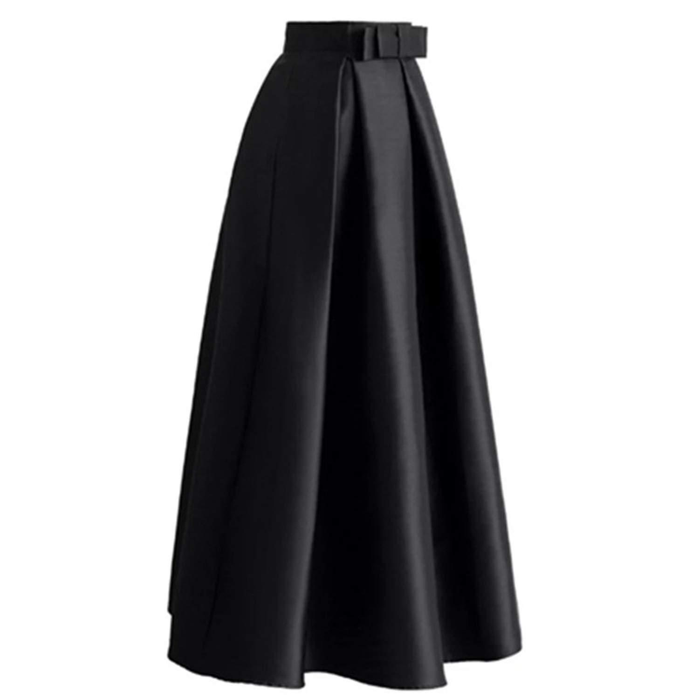 eac51e8394 Amazon.com: 2018 Winter Abaya Dubai Turkish Long Peated Maxi Skirts Tutu  Skirt Women Longue Femme: Clothing