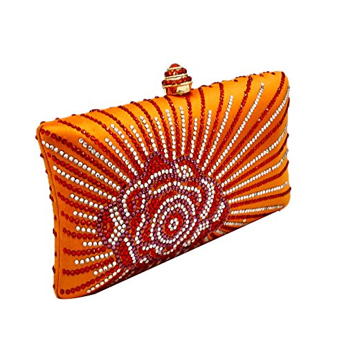 De Sac Sac Strass Chaîne Orange Party Dames Mariage Sac Prom Soie Soirée Diamant à Sac Main Main à à Chaud Pochette wwR6q0XT