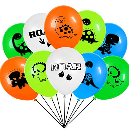 - Dinosaur Party Balloons For Dinosaur Themed Kids Birthday Party Decorations Supplies-50 Pack