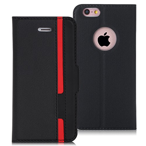 に賛成心理的に用量iPhone6sPlus ケース iPhone6Plus ケース,FYY 薄型 軽量 手帳型 保護ケース カードポケット付き スタンド機能付き マグネット式 PUレザー スマホケース iPhone6s Plus / 6 Plus兼用