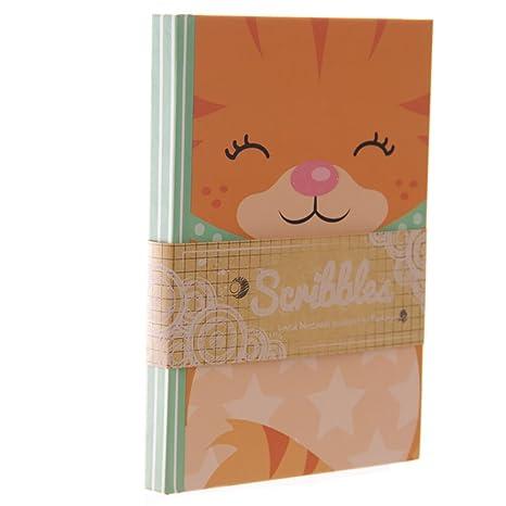 Carcasa Ginger de gatito con forro A6 ordenador portátil ...