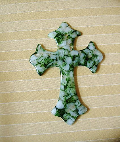 Fused Glass Cross, Unique Glass Cross Art, Hostess Gift