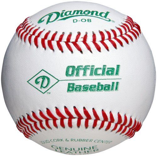 Diamond D-Ob Official Leather Baseballs 12 Ball Pack - Leather Baseball Diamond