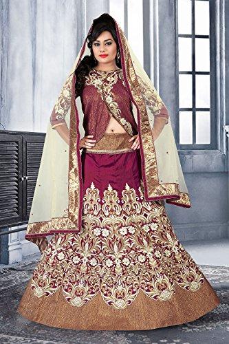 Da Facioun Silk Fabric Violet Pretty Circular Lehenga Style 79530