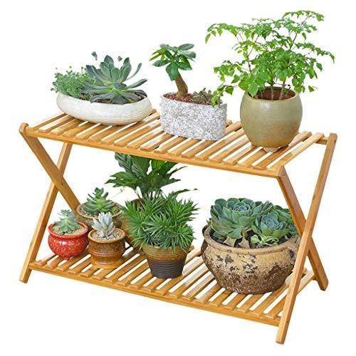 MinMin Floor-Standing Flower Stand Flower Stand-Cross Type Floor Living Room Multi-Level Balcony Fleshy Flower Pot Shelf Plant Container