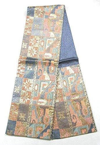 公平なすずめ芸術的リサイクル 袋帯  抽象模様 六通 織り