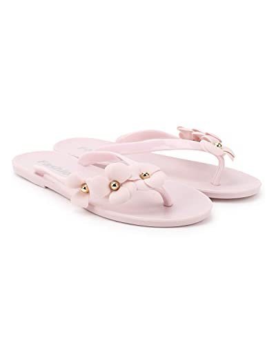 8f95d7196ed09a Popmode Fashionable Pink Girls Flower Applique Slippers Flipflops  Buy  Online at Low Prices in India - Amazon.in