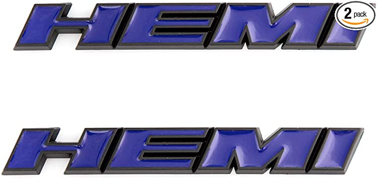 red 2x HEMI Emblems 3D Letter Logo Sticker Replacement For Charger V8 Ram 1500 Challenger