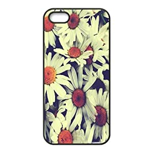 Attractive and Unique Pretty Flowers 2 IPhone 5,5S Case, Case for Iphone 5s for Girls {Black} At HY_in Case
