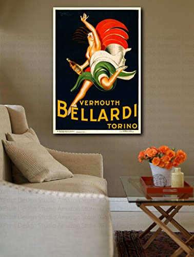 Vermouth Bellardi Torino by Leonetto CappielloキャンバスプリントアートREPRO印刷 Giclee Art Print 30inx 20inの商品画像