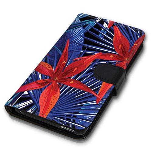 Wallet Book Style Flip Handy Tasche Case Schutz Hülle Schale Motiv Etui für Apple iPhone 5 / 5S - Design Flip MVD139