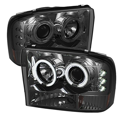 Spyder Auto PRO-YD-FF25099-1P-G2-CCFL-SM Ford F250 Super Duty/Ford Excursion Smoke G2 Version CCFL LED Projector Headlight with Replaceable LEDs - Excursion Projector Headlights