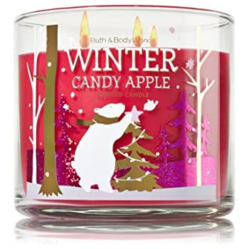 bath and body works winter candy apple 3 wick scented candle home kitchen. Black Bedroom Furniture Sets. Home Design Ideas