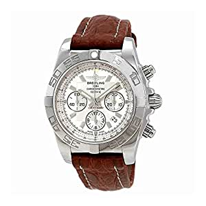 Breitling Chronomat 44 Chronograph Automatic Silver Dial Mens Watch AB011012/G684-739P