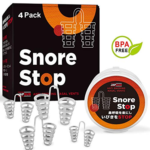 Snore Stopper Solution - Anti Snoring Nose Vents - Set of 4 Nasal Dilators - Natural Stop Snoring Devices - Reduce Snoring from JAPSUN