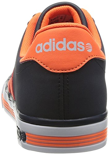 adidas Neo DAILY TEAM Blau Orange Herren Sneakers Schuhe Neu