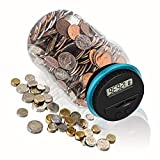 HeQiao Money Jar Large Digital Coin Bank Savings Box Coin Counters for U.S.Dollar