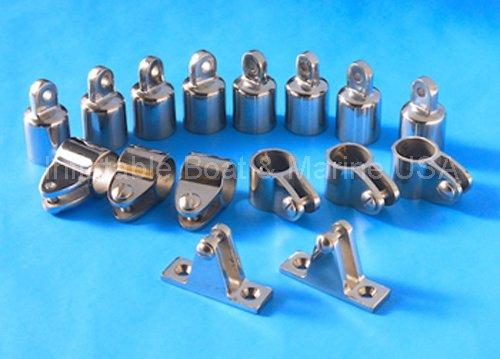 Bimini Top Fittings Kit / Set Hardware - 4 Bow- 7/8'' 316 Marine Stainless Steel